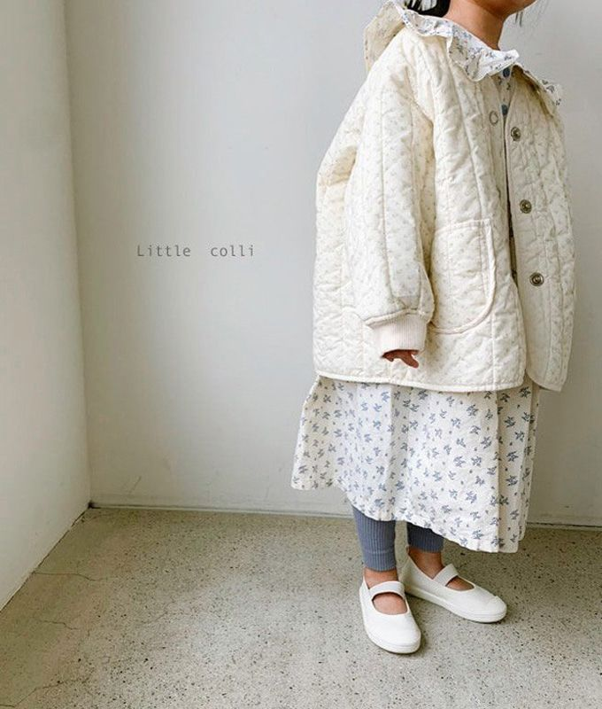LITTLE COLLI - BRAND - Korean Children Fashion - #Kfashion4kids - Spring Quilting Jumper