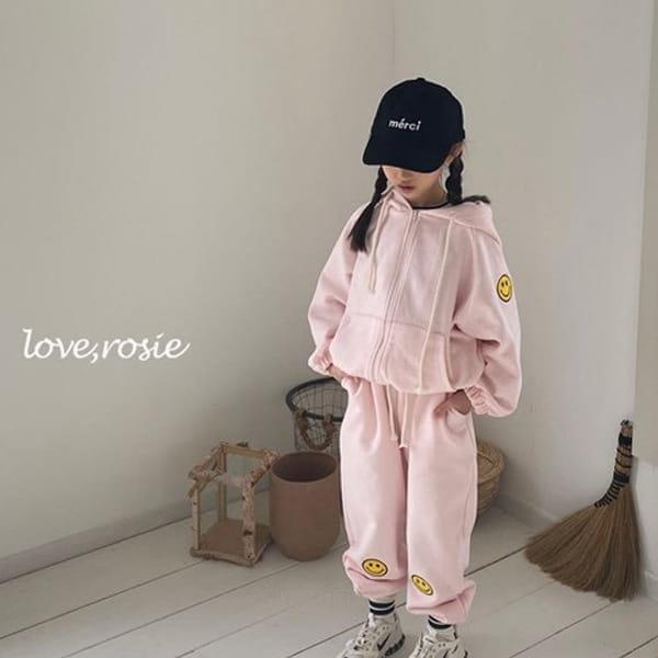 LOVE ROSIE - BRAND - Korean Children Fashion - #Kfashion4kids - Smile Zip up Top Bottom Jumpsuit