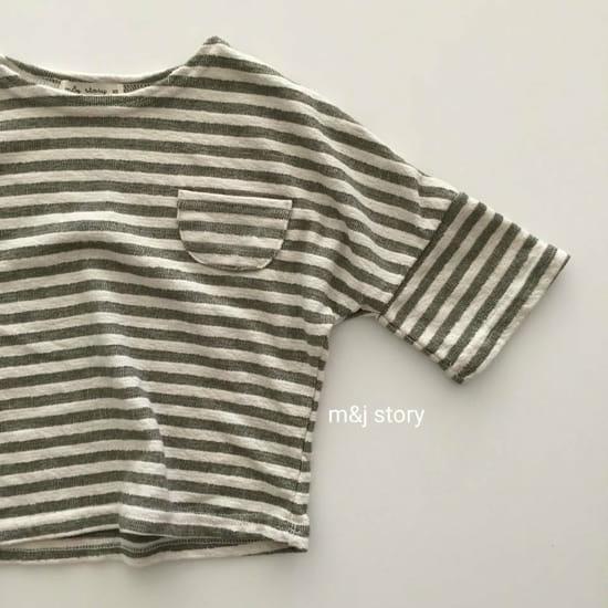 M & J STORY - Korean Children Fashion - #Kfashion4kids - Stripes Tee