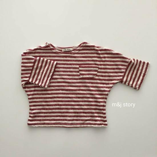 M & J STORY - Korean Children Fashion - #Kfashion4kids - Stripes Tee - 2