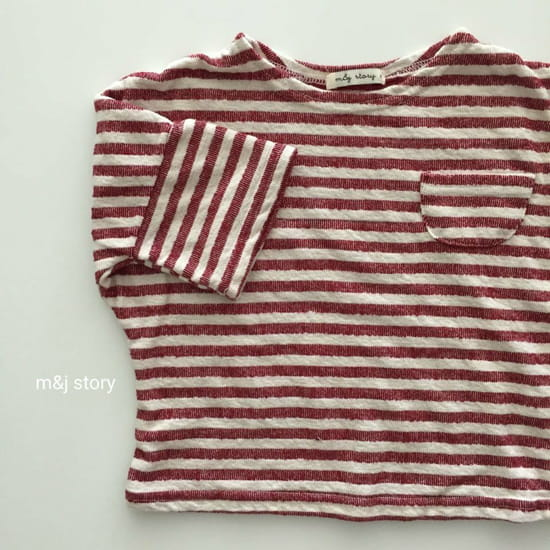 M & J STORY - Korean Children Fashion - #Kfashion4kids - Stripes Tee - 3