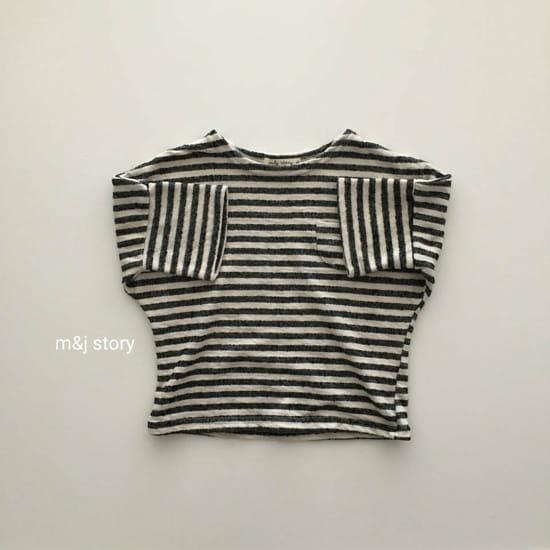M & J STORY - Korean Children Fashion - #Kfashion4kids - Stripes Tee - 4