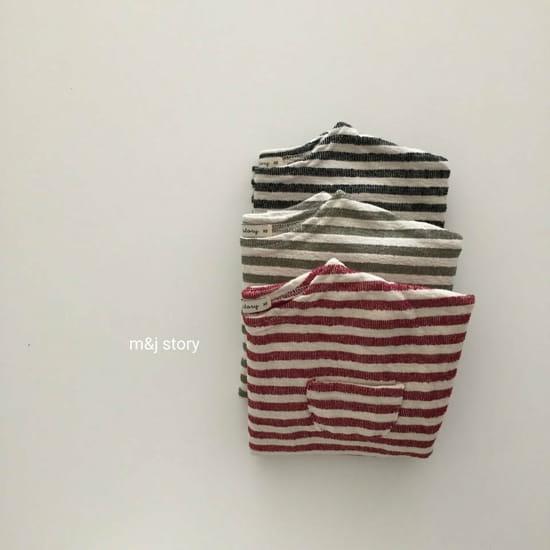 M & J STORY - Korean Children Fashion - #Kfashion4kids - Stripes Tee - 6