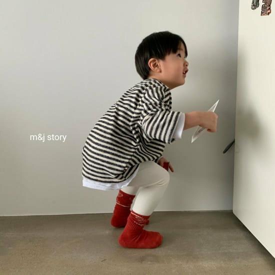 M & J STORY - Korean Children Fashion - #Kfashion4kids - Stripes Tee - 8