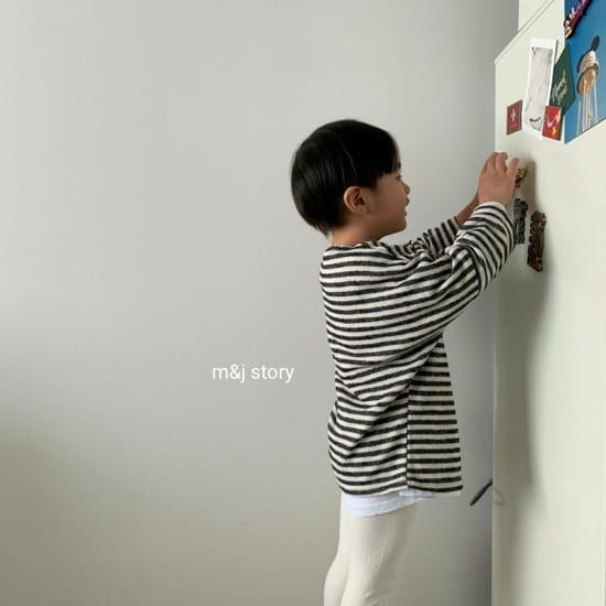 M & J STORY - Korean Children Fashion - #Kfashion4kids - Stripes Tee - 9