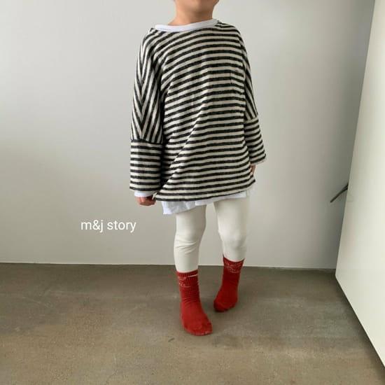 M & J STORY - BRAND - Korean Children Fashion - #Kfashion4kids - Stripes Tee
