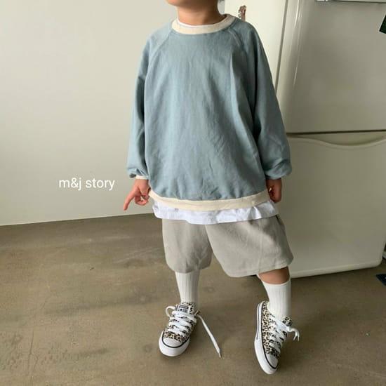 M & J STORY - BRAND - Korean Children Fashion - #Kfashion4kids - Spring Raglan Sweatshirt