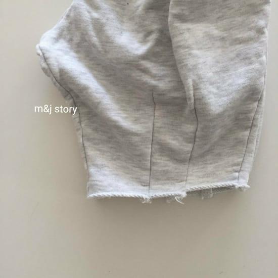 M & J STORY - Korean Children Fashion - #Kfashion4kids - Dart Terry Top bottom Set - 3