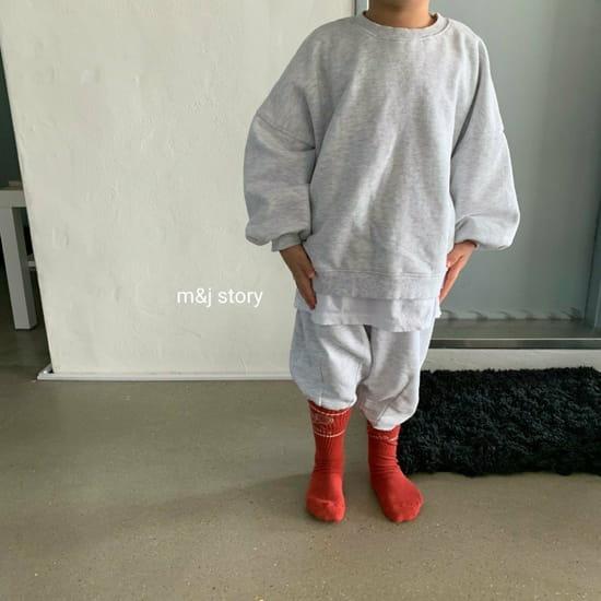 M & J STORY - Korean Children Fashion - #Kfashion4kids - Dart Terry Top bottom Set - 7