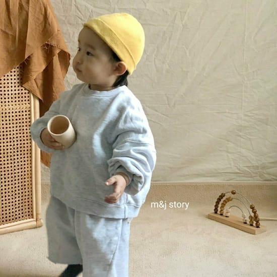 M & J STORY - Korean Children Fashion - #Kfashion4kids - Dart Terry Top bottom Set - 9
