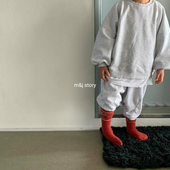 M & J STORY - BRAND - Korean Children Fashion - #Kfashion4kids - Dart Terry Top bottom Set