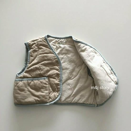 M & J STORY - Korean Children Fashion - #Kfashion4kids - Cushion Vest Jumper