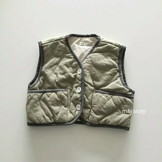 M & J STORY - Korean Children Fashion - #Kfashion4kids - Cushion Vest Jumper - 3