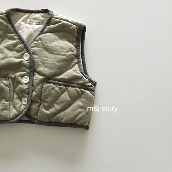 M & J STORY - Korean Children Fashion - #Kfashion4kids - Cushion Vest Jumper - 4