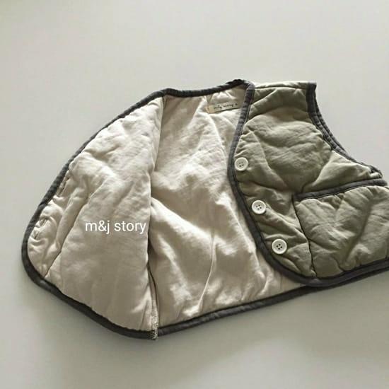M & J STORY - Korean Children Fashion - #Kfashion4kids - Cushion Vest Jumper - 5