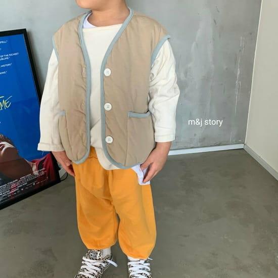 M & J STORY - Korean Children Fashion - #Kfashion4kids - Cushion Vest Jumper - 6
