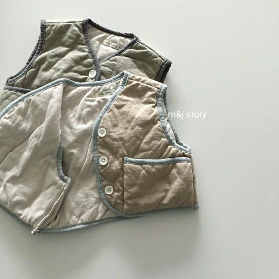 M & J STORY - Korean Children Fashion - #Kfashion4kids - Cushion Vest Jumper - 9