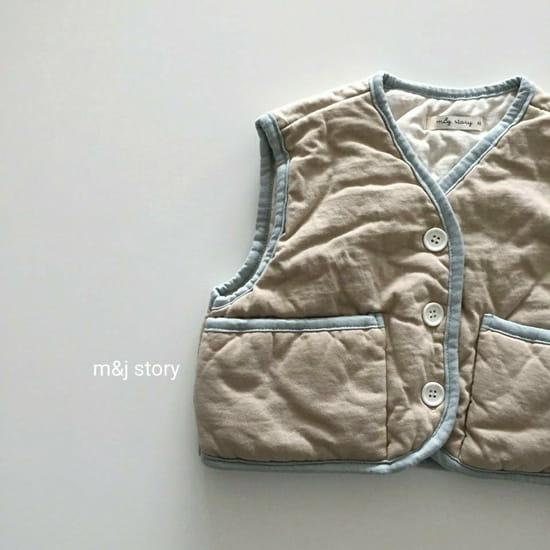 M & J STORY - BRAND - Korean Children Fashion - #Kfashion4kids - Cushion Vest Jumper