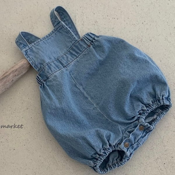 MIMI MARKET - BRAND - Korean Children Fashion - #Kfashion4kids - Denim Nice Suspender Romper