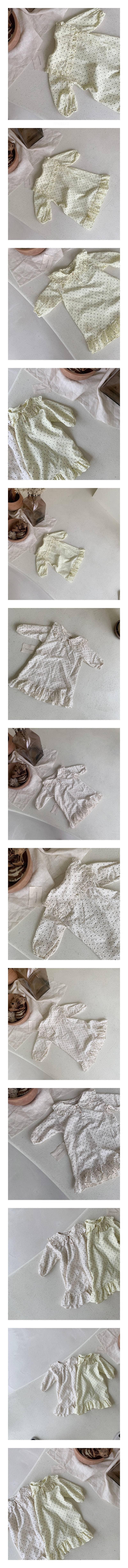 MIMI MARKET - Korean Children Fashion - #Kfashion4kids - Dots Pajamas One-piece