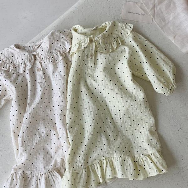 MIMI MARKET - BRAND - Korean Children Fashion - #Kfashion4kids - Dots Pajamas One-piece