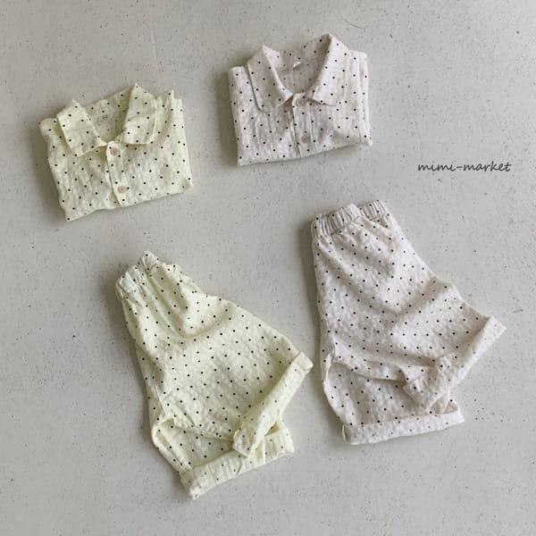 MIMI MARKET - BRAND - Korean Children Fashion - #Kfashion4kids - Dots Pajamas Set