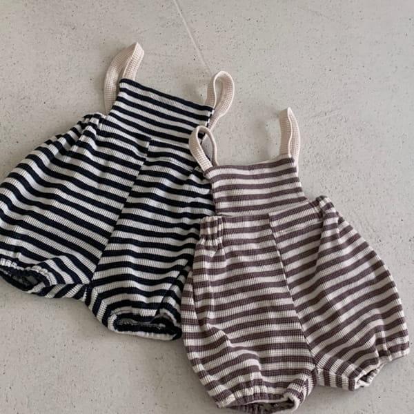 MIMI MARKET - BRAND - Korean Children Fashion - #Kfashion4kids - Waffle Nice Dungarees Romper
