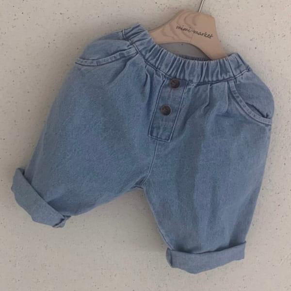 MIMI MARKET - BRAND - Korean Children Fashion - #Kfashion4kids - Button Denim Pants