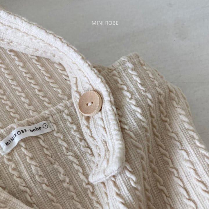 MINI ROBE - Korean Children Fashion - #Kfashion4kids - Twist Knit Dungrees