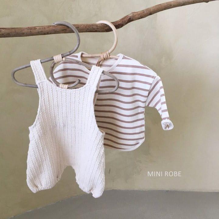 MINI ROBE - Korean Children Fashion - #Kfashion4kids - Twist Knit Dungrees - 10