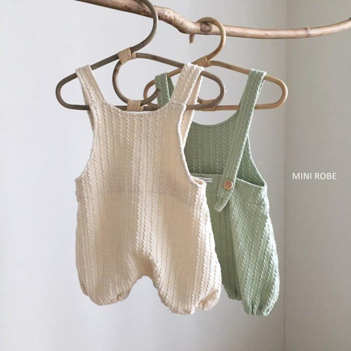 MINI ROBE - Korean Children Fashion - #Kfashion4kids - Twist Knit Dungrees - 2