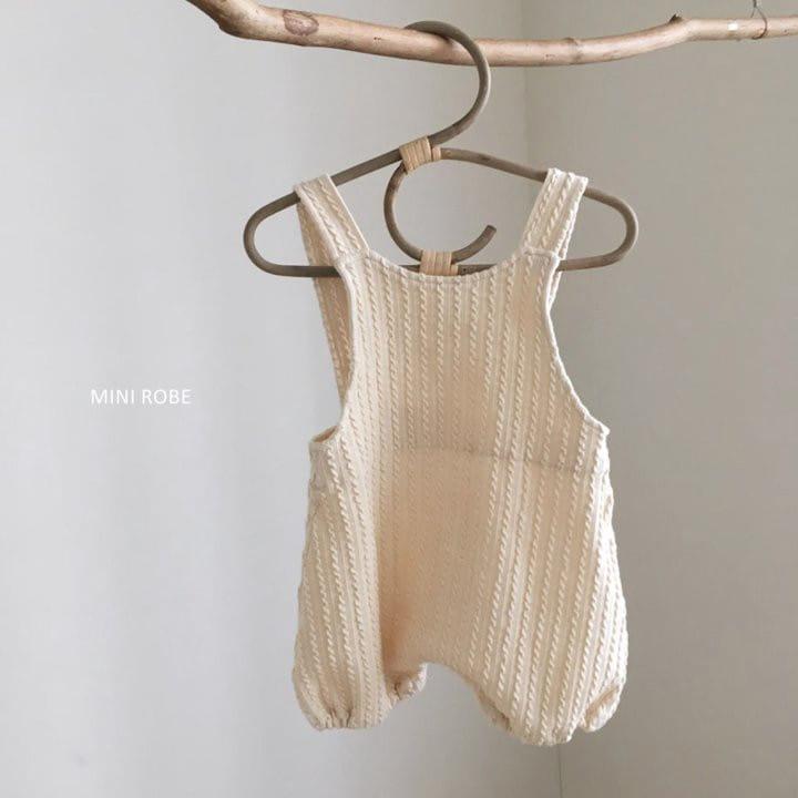 MINI ROBE - Korean Children Fashion - #Kfashion4kids - Twist Knit Dungrees - 3