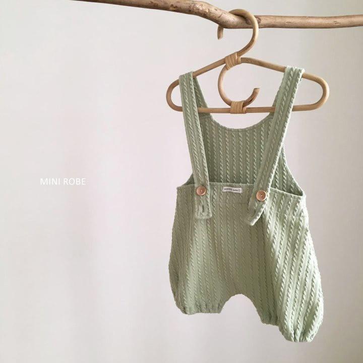 MINI ROBE - Korean Children Fashion - #Kfashion4kids - Twist Knit Dungrees - 5