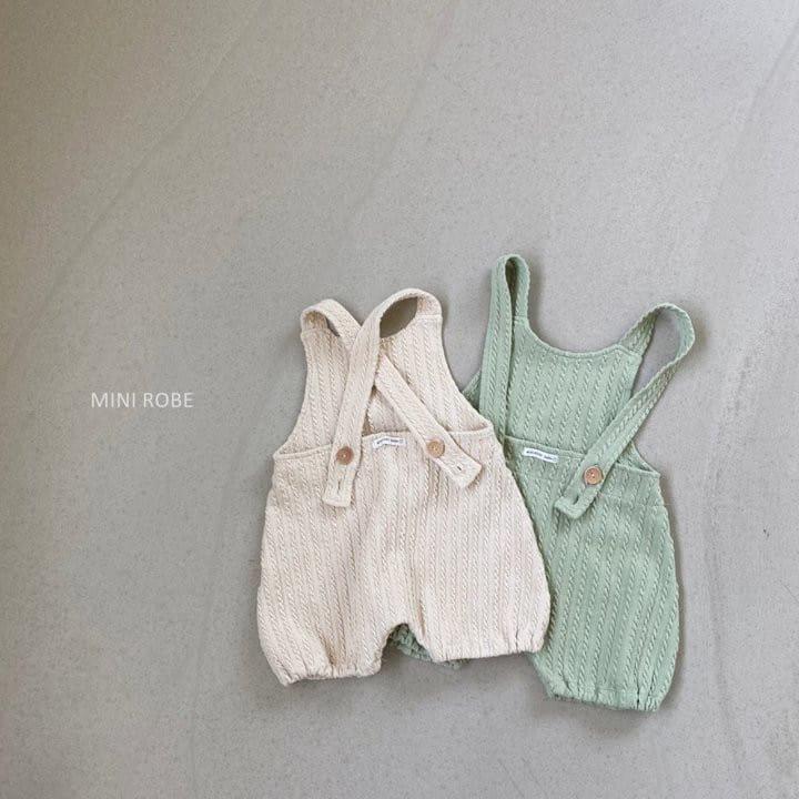 MINI ROBE - Korean Children Fashion - #Kfashion4kids - Twist Knit Dungrees - 6