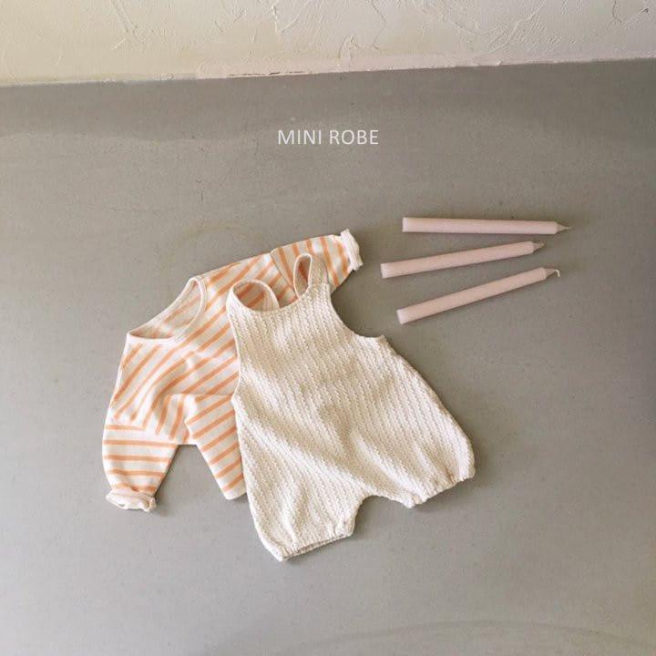 MINI ROBE - Korean Children Fashion - #Kfashion4kids - Twist Knit Dungrees - 9