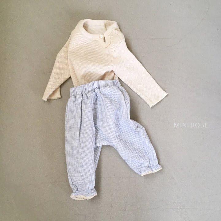MINI ROBE - Korean Children Fashion - #Kfashion4kids - Waffle Top Bottom Set - 10