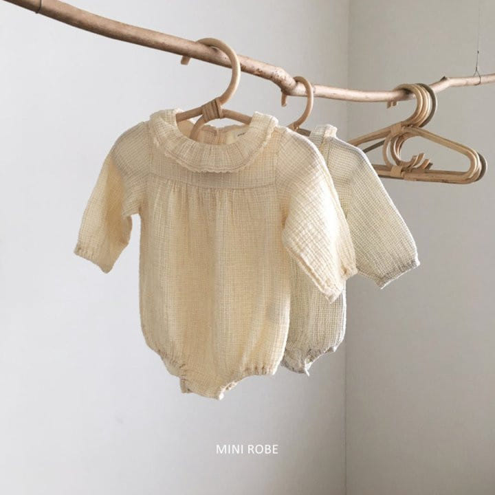 MINI ROBE - Korean Children Fashion - #Kfashion4kids - Frill Bodysuit - 6