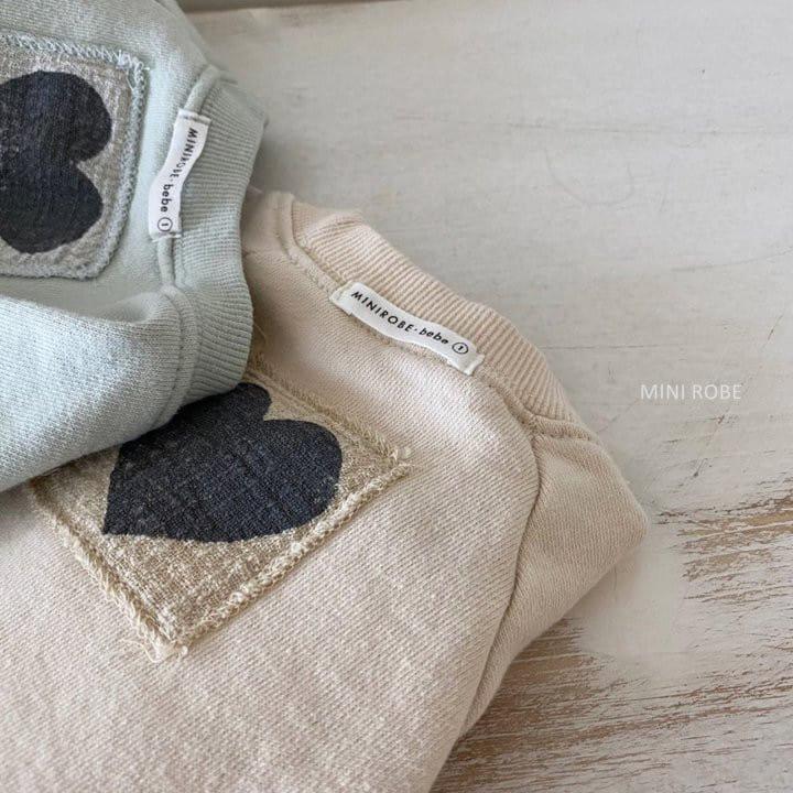 MINI ROBE - Korean Children Fashion - #Kfashion4kids - Heart Sweatshirt