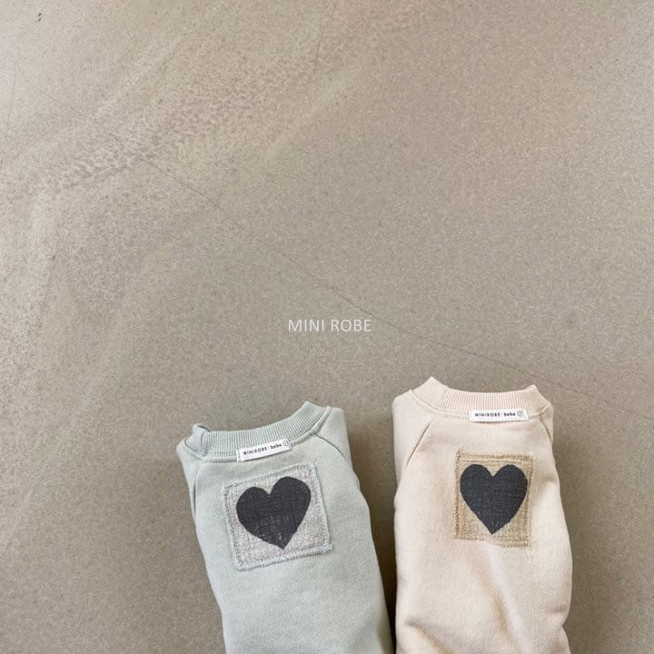 MINI ROBE - Korean Children Fashion - #Kfashion4kids - Heart Sweatshirt - 6