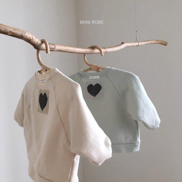 MINI ROBE - Korean Children Fashion - #Kfashion4kids - Heart Sweatshirt - 8
