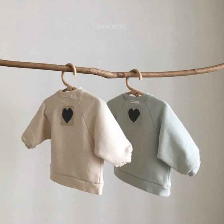 MINI ROBE - BRAND - Korean Children Fashion - #Kfashion4kids - Heart Sweatshirt