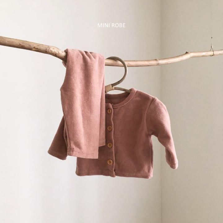 MINI ROBE - Korean Children Fashion - #Kfashion4kids - Teddy Top Bottom Set - 3