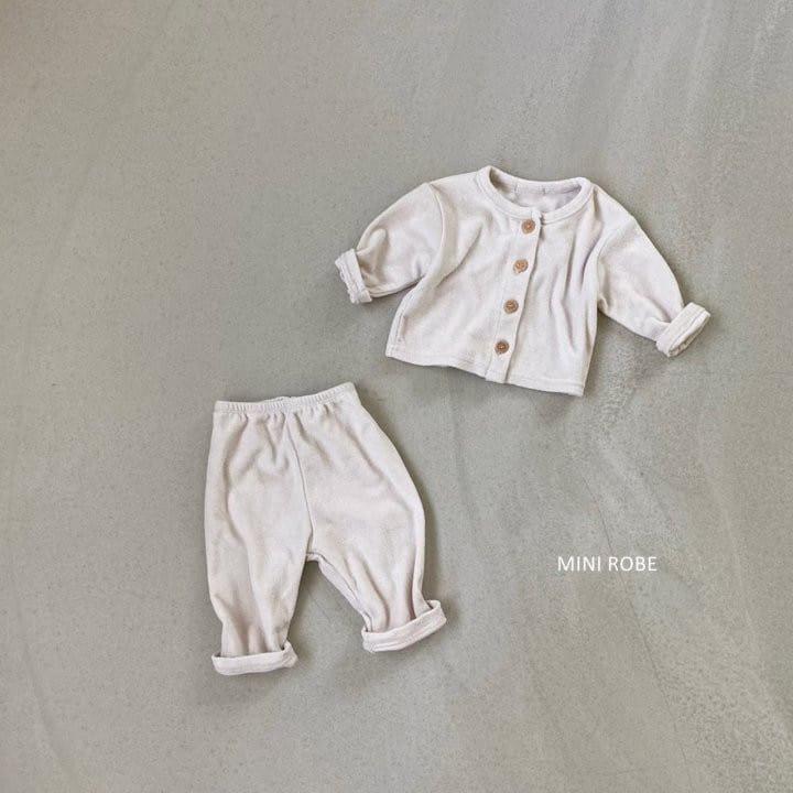 MINI ROBE - Korean Children Fashion - #Kfashion4kids - Teddy Top Bottom Set - 4