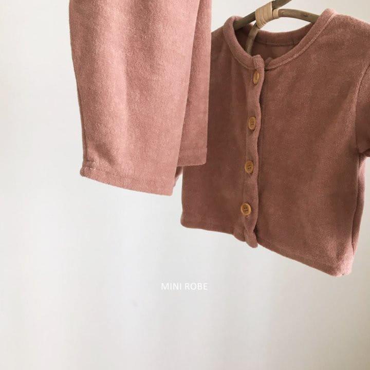 MINI ROBE - Korean Children Fashion - #Kfashion4kids - Teddy Top Bottom Set - 5