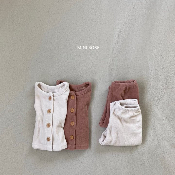 MINI ROBE - BRAND - Korean Children Fashion - #Kfashion4kids - Teddy Top Bottom Set