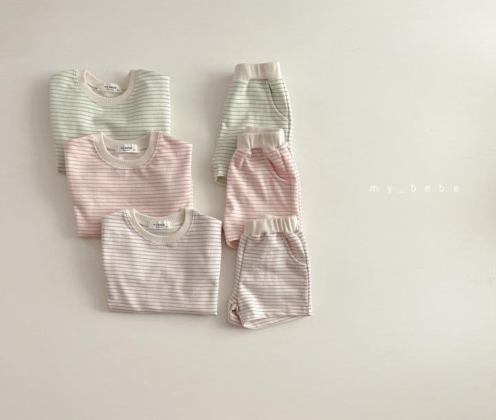 MY BEBE - Korean Children Fashion - #Kfashion4kids - Daily Shorts Set - 2