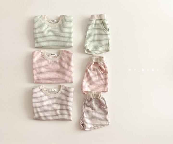 MY BEBE - Korean Children Fashion - #Kfashion4kids - Daily Shorts Set - 3
