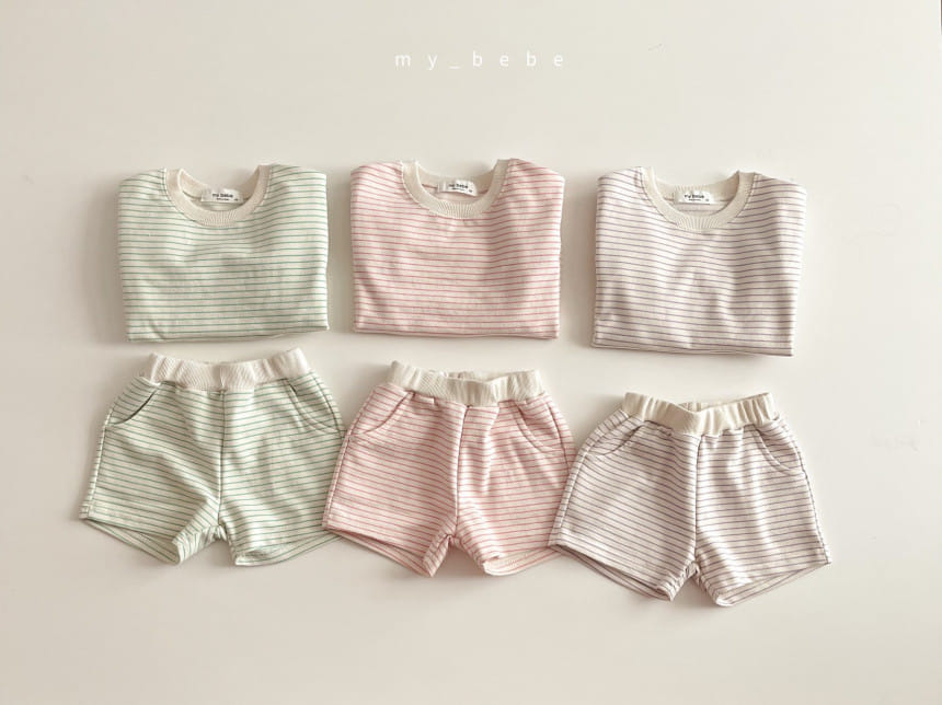 MY BEBE - BRAND - Korean Children Fashion - #Kfashion4kids - Daily Shorts Set