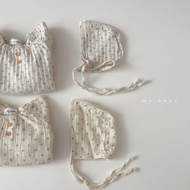 MY BEBE - Korean Children Fashion - #Kfashion4kids - Star Shirring Bodysuit - 2
