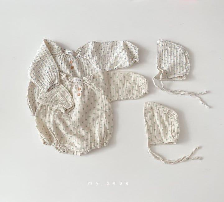 MY BEBE - Korean Children Fashion - #Kfashion4kids - Star Shirring Bodysuit - 3